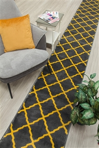 Toscana hall stair runner Grey / Yellow
