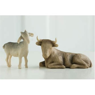 Willow Tree Ox And Goat Nativity Figurines