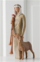 Willow Tree Zampognaro (Shepherd with bagpipe) nativity figurine