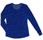 HeartSoul Long Sleeve Underscrub Knit Tee Hot Purr-Suit Royal #20801 HORL