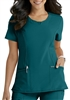 Cherokee Infinity Round Neck Top #2624A Caribbean Blue