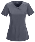Cherokee Infinity Mock Wrap Top #2625 Pewter