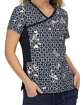 koi Lite Raquel Butterfly Foil Navy Top #385PR TB12F *XL & 2XL Only*