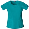 Cherokee Workwear Round Neck Top #4824 Teal