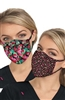 Koi Reversible Fashion Mask 2pk- Raspberry/Bloomerang Floral