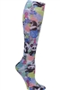 Knee High 12 mmHg Compression Sock in  Garden Panda-monium