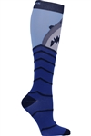 Men's Print Support Sock Shark Attack