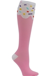 """Cupcake"" Women's Print Support Sock PS CUPCK"