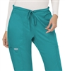 Cherokee Revolution Mid Rise Drawstring Pant #WW120 Teal