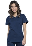 #WW601 Navy Cherokee Revolution Shaped V-Neck Top