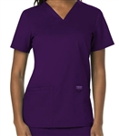 Cherokee Revolution V-Neck Top #WW620 Eggplant