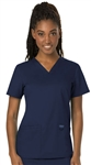 #WW620 Navy Cherokee Revolution  V-Neck Top