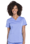 Cherokee Professionals V-Neck Top #WW665