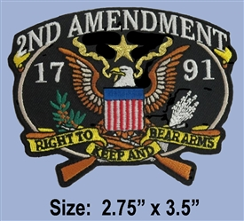"2ND AMENDMENT ""RIGHT TO KEEP & BEAR ARMS"" COLOR PATCH"