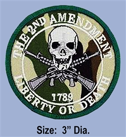 "2ND AMENDMENT ""RIGHT TO KEEP & BEAR ARMS"" WOODLAND CAMO COLOR PATCH"
