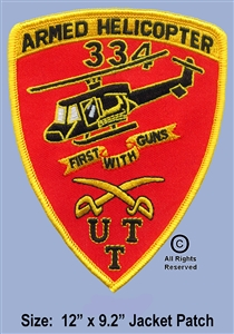 334th Aerial Weapons Huey Gunship Patch