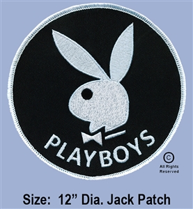 "334th AERIAL WEAPONS COMPANY - 1ST FLIGHT PLATOON GUNS ""PLAYBOY'S""  LIMITED EDITION LARGE JACKET PATCH"