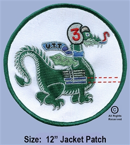 "334th AERIAL WEAPONS COMPANY - 3RD FLIGHT PLATOON GUNS ""DRAGON'S""  JACKET PATCH"
