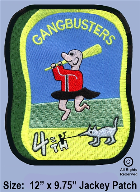 "334th AERIAL WEAPONS COMPANY - 4TH FLIGHT PLATOON GUNS ""GANGBUSTER'S""  JACKET PATCH"