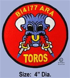 "77TH AERIAL ROCKET ARTILLERY  4TH BATTALION ""B"" BATTERY  ""TOROS""  PATCH"