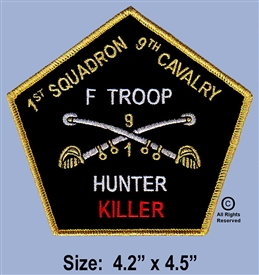 "9TH CAVALRY ""F"" TROOP ""HUNTER KILLER"" GOLD & SILVER TCH"