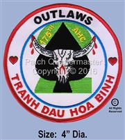 "175TH AHC 2ND FLIGHT PLATOON ""OUTLAWS""  (2ND DESIGN))"