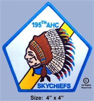 "195TH AHC 1ST. FLIGHT PLATOON  ""SKY CHIEFS""  PATCH (2nd Design)"