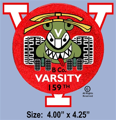 "159th ASSAULT SUPPORT HELICOPTER BATTALION ""B"" COMPANY ""VARSITY"" 1ST DESIGN PATCH"