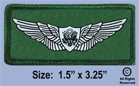 U.S. ARMY AIR CREW CLOTH WINGS BADGE