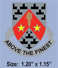 "FORT WOLTERS ""ABOVE THE FINEST"" CREST PIN"