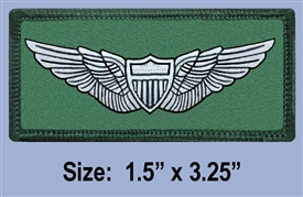 U.S. ARMY BASIC AVIATOR CLOTH WINGS BADGE