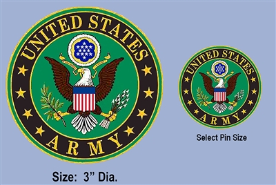 UNITED STATES ARMY LOGO PATCH AND PIN SET