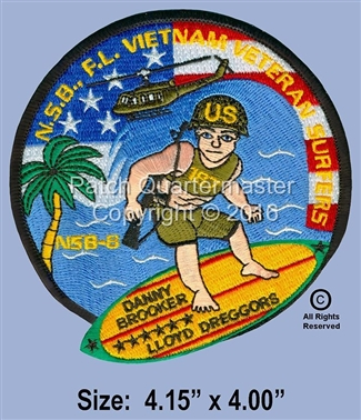 NEW SMYRNA BEACH VIET NAM SURFERS, FLORIDA SURFER PATCH
