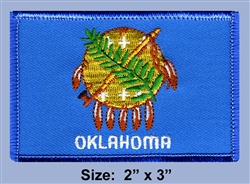 "OKLAHOMA ""INDIAN NATIONS SEAL""  STATE FLAG PATCH"