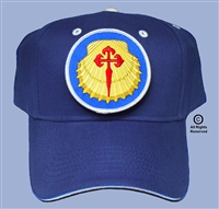 "CAMINO de SANTIAGO PILGRIMAGE ""BLUE SHELL PATCH CAP"