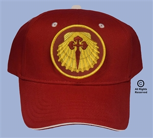 "CAMINO de SANTIAGO PILGRIMAGE ""RED SHELL PATCH CAP"