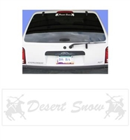 Desert Snow & Knight Logo Decal