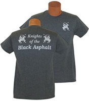 Knights of the Black Asphalt; Short Sleeve; Grey