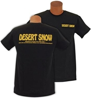 """Original"" Desert Snow T-Shirt; Short Sleeve; Black"