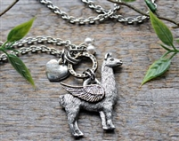 Llama Angel Necklace
