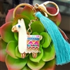 Enamel Llama/Alpaca Key Chain-OUT OF STOCK