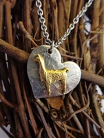 Llama Heart Necklace