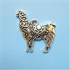 Antique Silver Look Llama Charm