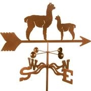 Alpaca Weathervane - Mom and Baby