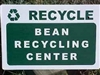 Bean Recycling Center Sign