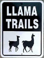 Llama Trails Sign