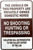 No Shooting, Hunting or Trespassing Sign