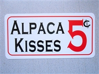 Alpaca Kisses Sign