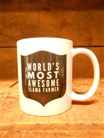 Most Awesome Llama Farmer Mug