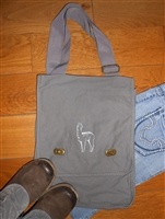 Field Style Shoulder Bag with Alpaca Design